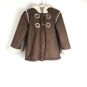 Specialty Girl Sherpa Lined Faux Suede Coat